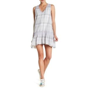 NWT Free People Run With Me Mini Dress Plaid